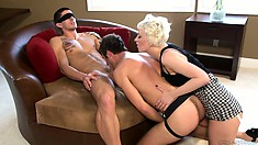 Surprising blonde shows her affection to the tremendous pegging