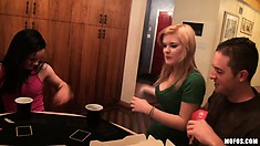 It's A Poker Party And These Bitches Are About To Lose Their Shirts