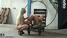 Backstage with Michelle Moist and Viktoriah as they toy pussies