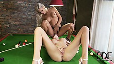 They Make A Bet On The Pool Table, Loser Gets To Lick The Winner