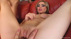 Stella, Monica and Michele gang up on each other and have a hot lesbian threesome