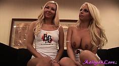 Experimenting blonde Phoenix is keen on sucking huge, brown nipples