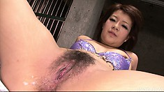 Kurara Iijima is getting pounded by one dude and he leaves a creampie