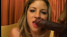 Monica rides a hard cock with pure excitement while her hot lips please another