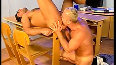 These gay studs are doing great blowjobs and some hardcore ass drilling