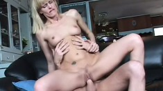 Filthy MILF Darryl Hanah bends over for some doggystyle banging