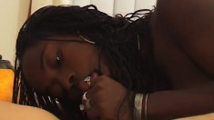 Lucky dude takes some special treatment from a hot black nurse