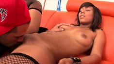 Black babe with the hottest body ever getting it on with a wigger