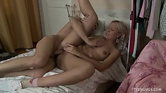 Gorgeous coed Heather gets her slit pounded and wants his cum in her mouth