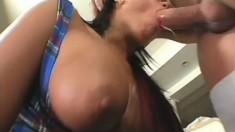 Grade A Whore Gets A Facefull Of Cum
