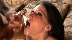 Two Studs Give Sexy Slut Double Cum Shot