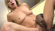 A pale skinny MILF can't get enough of this thick black pole