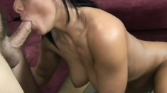 Stacked European babe gets fucked rough until she reaches her climax