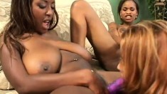 Crazy and gorgeous lesbians have a steamy wild all-girl orgy