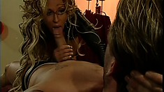 Fascinating blonde with perfect big tits needs to get fucked in the ass