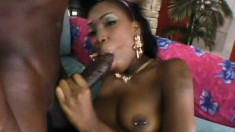 Petite red bone babe gets smashed by a homie packing serious heat