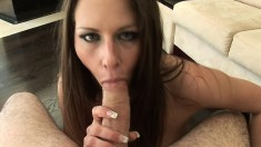 Buxom Rachel Roxxx makes a big dick burst with pleasure in her mouth
