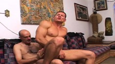 He's big and hard and loves it when other men plow his tight ass