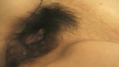 Fat Japanese whore gets herself stuck by a big cock in a POV video