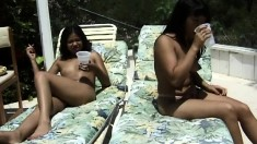Smoking hot Tammie Anilyn sunbathes with her beautiful friend