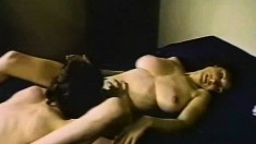 Kay Parker relishes every thrust of Marc Wallace's dick in her snatch