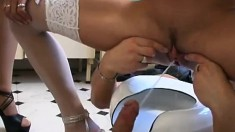 Eva Nicole and Lidia in a foursome of hard hitting cock loving