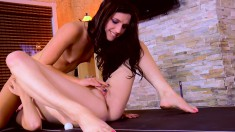 Rilee Marks plays Ping Pong naked and they get on the table to eat pussy