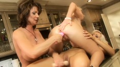 Four lustful and lonely milfs embark on an exciting lesbian adventure