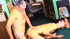 Young stud gives an older dude the anal pounding he's been waiting for