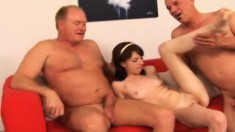 Wild Teen Cutie Lexi Belle Gets Nailed By Two Horny Old Guys For Money