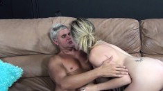 Lustful blonde Lia Lor gets her wet peach eaten out and banged hard