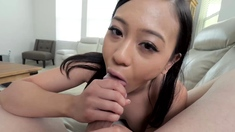 Asian stepsister wants to taste her stepbrothers big cock