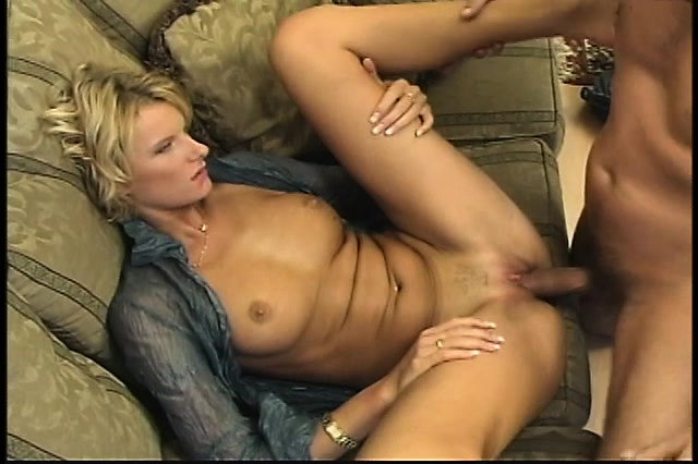 Her blonde fucked pussy getting milf