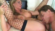 He fills her tight ass with cum, she sucks it out with a straw