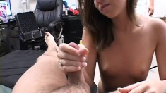 Young blonde gets picked up on the street and pounded hard on the bed