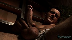 Lucas Davidson exposes his fabulous body and pleases his long shaft
