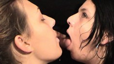 These girls eat pussy, suck dick and get covered in piss and drink it