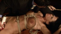 Bodacious brunette Andrea brings her bondage fetish fantasy to reality