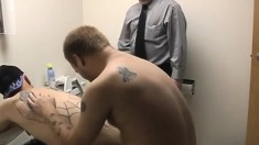 Pooch Mcgee and Dragon Cub invite another man for a hot gay threesome