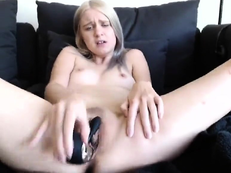 Huge dick destroys hot blonde