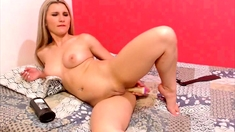 Beautiful Blonde Teen Makes Love to Her Dildo