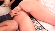 Homemade anal : Buttocks Massage makes Booty Milf very horny