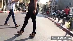 Bubble Butt VPL walking the street