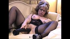 Hot Milf Large Dildo in Slo Motion