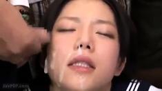 Amateur girlfriend blowjob and huge facial cumshot