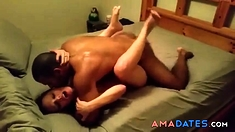 Beautiful wife blacked in front of husband