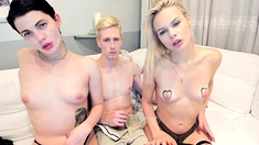 Amateur Teen Threesome Blowjob