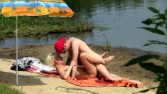 Beach Voyeur Films Amateur Oral Sex