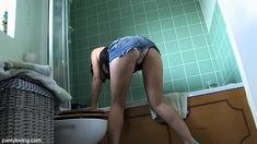 Upskirt White Skirt No Panties