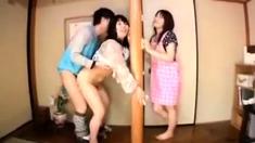 Miwako Yamamoto nasty Japanese milf in hot threesome